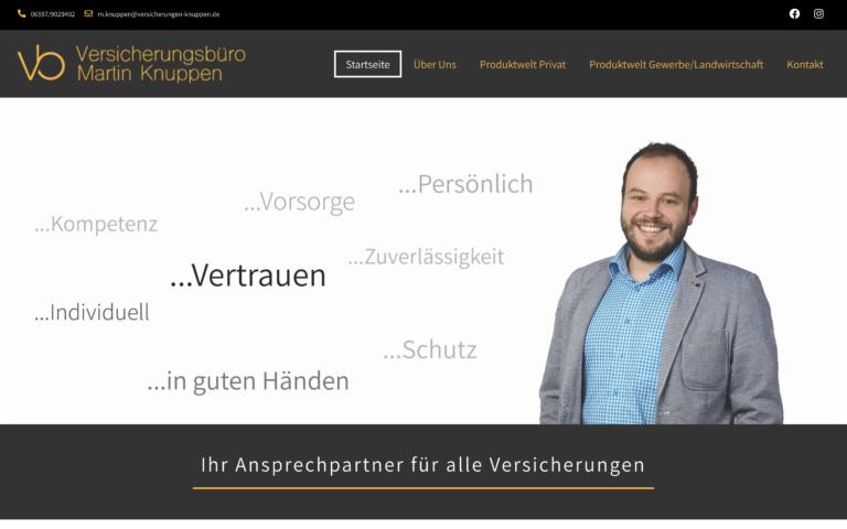 Versicherungen Knuppen - Kunde von Webdesign Timo Klein