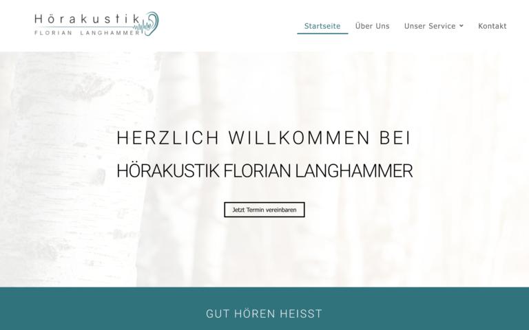 Hörakustik Langhammer - Kunde von Webdesign Timo Klein