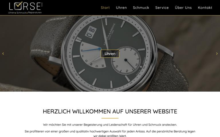 Uhren-Schmuck-Lorse - Kunde von Webdesign Timo Klein