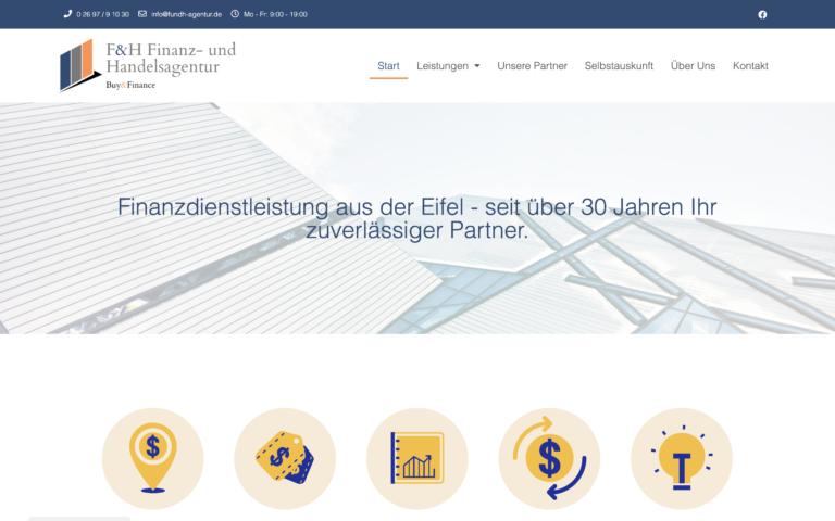 F&H-Agentur.de - Kunde von Webdesign Timo Klein