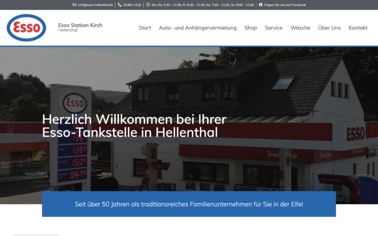 ESSO Hellenthal - Kunde Webdesign Timo Klein